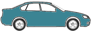 Aquamarine Blue Metallic touch up paint for 1980 Saab All Models