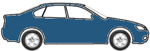 Baltic Blue Metallic  touch up paint for 1987 Mitsubishi Two-Tone
