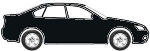 Black Matte (Window Trim) touch up paint for 1996 Ford All Other Models