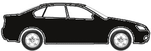 Black (matt) (Lower 2-Tone) touch up paint for 2011 Ford Crown Victoria
