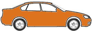 Blaze Orange Metallic  touch up paint for 2008 Honda Fit