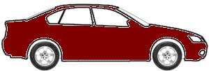 Bordeaux Red Metallic  touch up paint for 1989 Mitsubishi Mirage