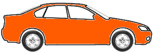 Bright Orange touch up paint for 1995 Ford Heavy Duty Truck