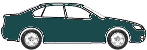 Dark Satin Green Metallic  touch up paint for 1999 Ford Contour