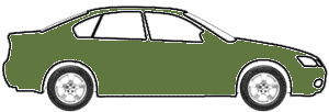 Dark Yellow Green Poly touch up paint for 1975 Lincoln M III