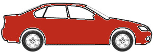 Daytona Red touch up paint for 1993 Volkswagen Fox