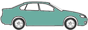 Jamaican Blue Metallic  touch up paint for 1990 Mitsubishi Mirage