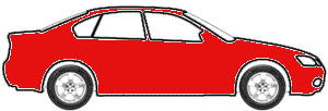Laser Red Metallic Tricoat touch up paint for 2000 Mercury Cougar