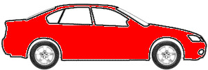 Maranello Red  touch up paint for 1990 Mitsubishi Mirage