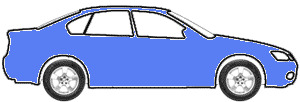 Medium Blue touch up paint for 2007 Peugeot All Models