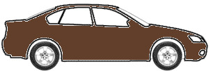 Medium Brown Pearl Metallic  touch up paint for 2001 Ford Police Car