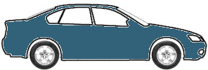 Medium (Competition) Blue Poly touch up paint for 1972 Ford All Models