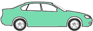 Mint Green touch up paint for 1991 Porsche All Models