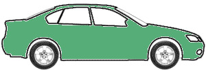 Modern Green Metallic  touch up paint for 2003 Daewoo Lanos