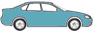 Oceanic Blue Metallic touch up paint for 1985 Audi 4000S