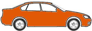 Orange Fluorescent  (Signal Orange) touch up paint for 1974 Volkswagen Sedan