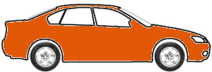 Orange Fluorescent touch up paint for 1973 Volkswagen Convertible
