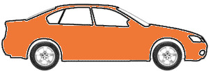 Orange Fusion Metallic  touch up paint for 2008 Cadillac STS