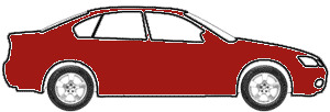 Rio Red Tricoat touch up paint for 1993 Ford Probe