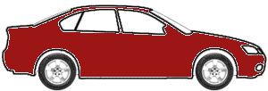 Ruby Red touch up paint for 1968 Volkswagen Convertible