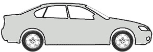 Silver Gray Metallic  touch up paint for 2004 Ford Police Car