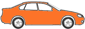 Tangier Orange touch up paint for 1987 GMC G10 G30 P Series