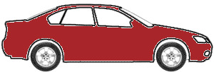 Titian Red Metallic  touch up paint for 1989 Volkswagen Fox