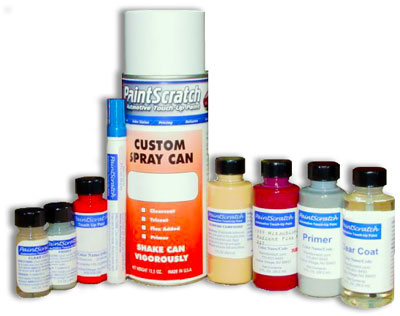 Picture of Mitsubishi iMEV touch up paint products available at PaintScratch.com